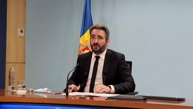 El ministre de Finances i Portaveu d'Andorra, Eric Jover