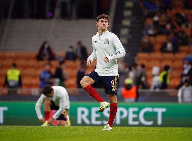Gavi, el día de su debut con la selección española absoluta