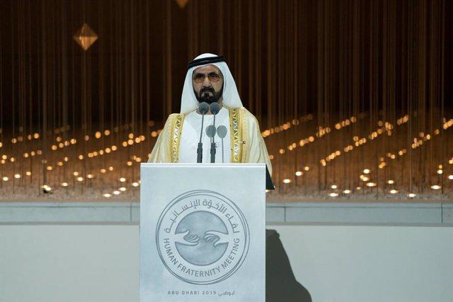 Archivo - El vicepresidente y primer ministro de Emiratos Árabes Unidos (EAU), Mohammed bin Rashid al Maktum