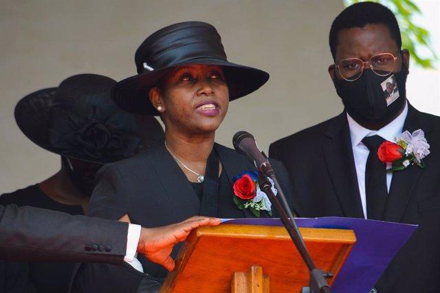 Archivo - Martine Moise, viuda del asesinado presidente de Haití Jovenel Moise