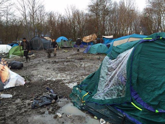 Archivo - Campo de refugiados de la jungla, Calais