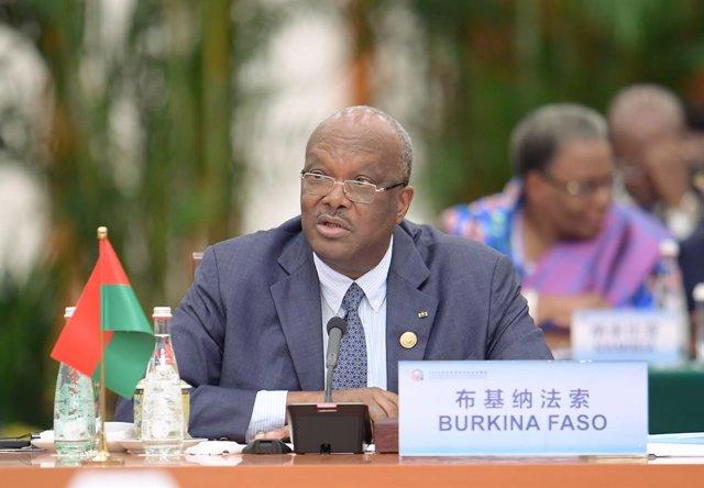 Archivo - El presidente de Burkina Faso, Roch Marc Christian Kaboré