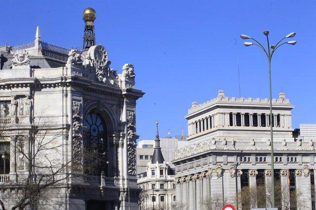 Archivo - Fachada del Banco de España