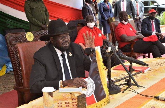 Archivo - Salva Kiir, presidente de Sudán del Sur