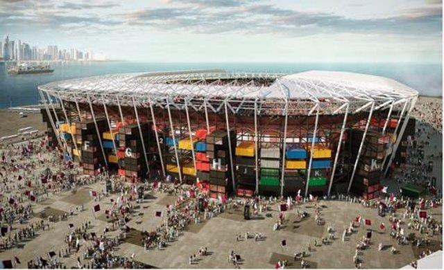 El estadio desmontable del estudio español Fenwick Iribarren para Qatar 2022 se estrena el 30 de noviembre.