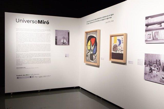 La Fundación Abertis y la Fundación Joan Miró han inaugurado en el Centro Cultural de España en México la exposición 'Universo Miró'.