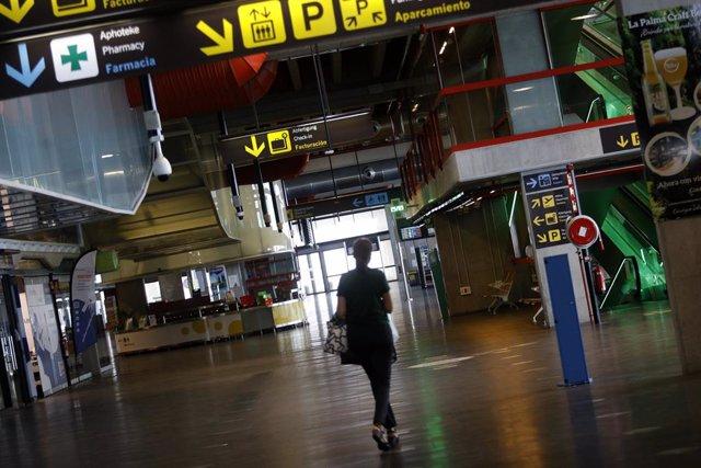 Arxiu - Interior de l'Aeroport de La Palma