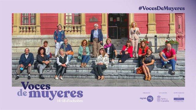 Participantes de #VocesDeMuyeres en la rueda de prensa celebrada
