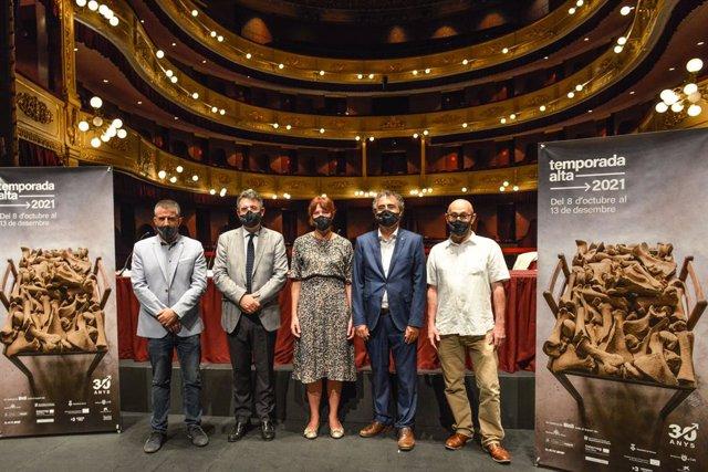 Archivo - Arxiu - Presentació del festival Temporada Alta de Girona 2021 amb el seu director, Salvador Sunyer