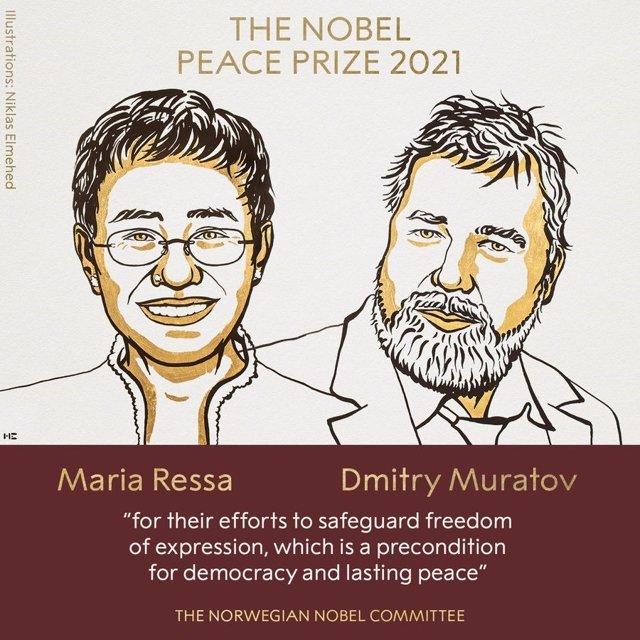Maria Ressa i Dmitri Muratov, Premi Nobel de la Pau