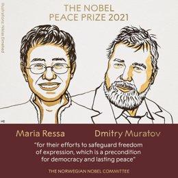 Maria Ressa y Dimitri Muratov, premio Nobel de la Paz