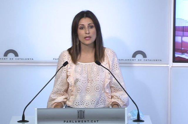 Arxiu - La diputada del PP català al Parlament Lorena Roldán