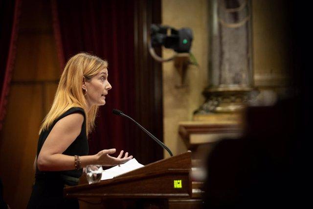 Arxiu - La líder dels comuns al Parlament, Jéssica Albiach