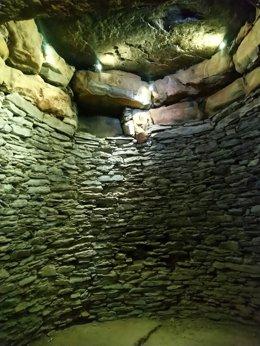 Archivo - Cámara del 'tholos' calcolítico de La Pastora