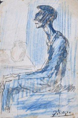 Barcelona adquireix un dibuix del període blau de Picasso en una subhasta pública