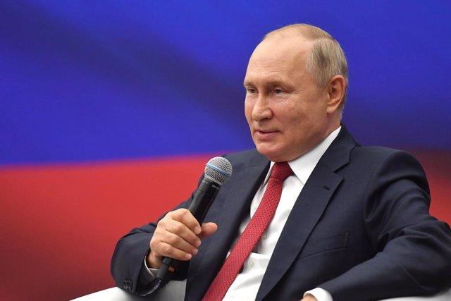 Archivo - El presidente ruso, Vladimir Putin