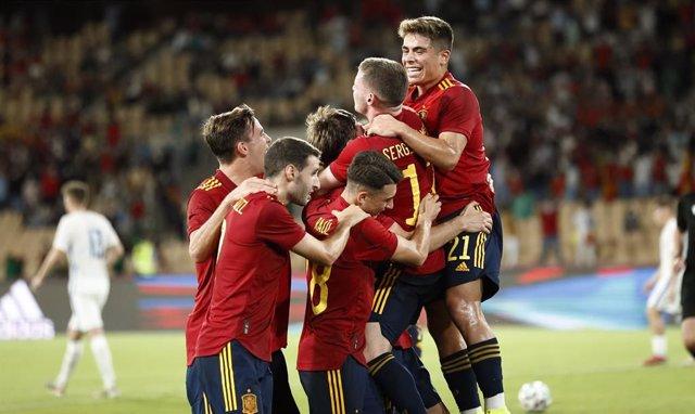 Jugadores de la selección española Sub-21