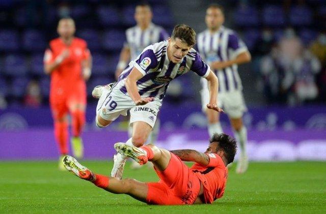 Málaga y Valladolid empatan a uno en el Nuevo José Zorrilla