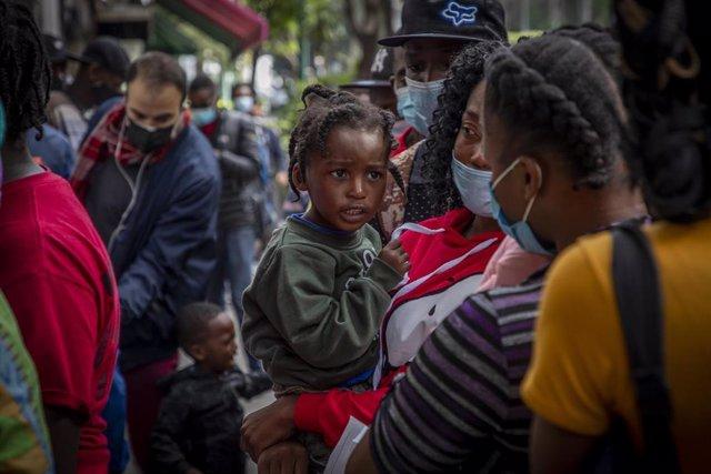 Migrantes haitianos buscan asilo en México
