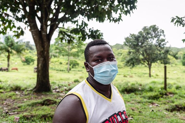 Crispin 'Toby', migrante haitiano de 30 que cruzó la selva de Darién.
