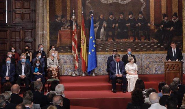 El president de la Generalitat, Ximo Puig, en l'Acte Institucional pel 9 d'Octubre de 2021
