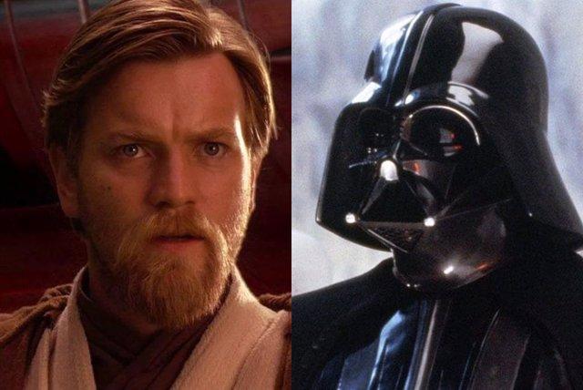 Obi Wan y Darh Vader