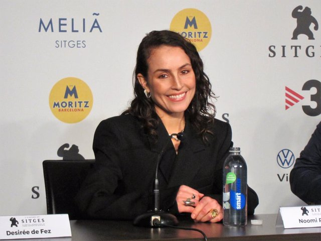 L'actriu Noomi Rapace, en el Festival de cinema de Sitges 2021