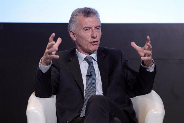 Archivo - El expresidente de Argentina Mauricio Macri