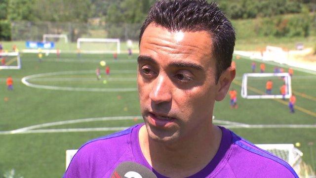 Archivo - El jugador del Al-Sadd y exjugador del FC Barcelona Xavi Hernández