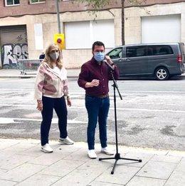 La consellera de Drets Socials, Violant Cervera, i el president de la Generalitat, Pere Aragonès