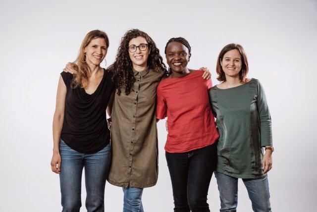 Les fundadors de Cocoro, d'esquerra a dreta: Eva Polío, Cristina Torres, Laida Memba i Clara Guasch