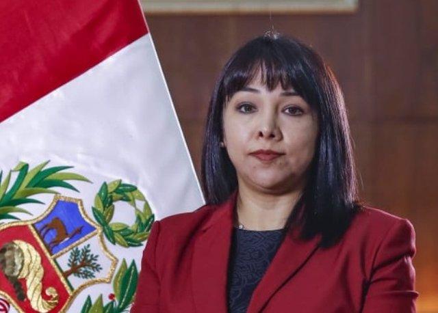 La primera ministra peruana, Mirtha Vásquez