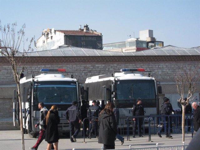 Archivo - Policía en Turquía