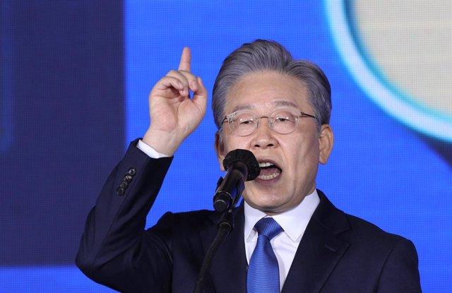 El candidato presidencial surcoreano Lee Jae Myung