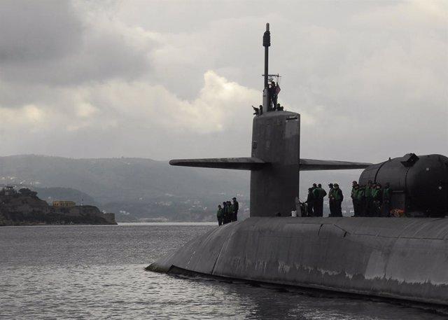 Archivo - Submarino 'USS Florida' de la Marina de Estados Unidos
