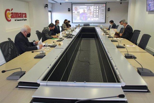 Reunión de la Comisión de Industria de la Cámara de Comercio de España con el secretario de Industria, Raúl Blanco