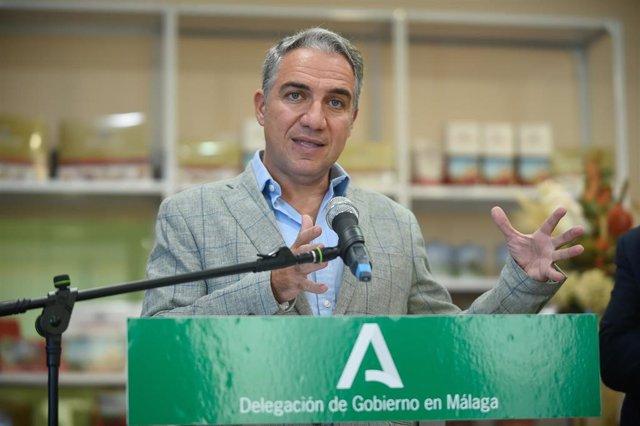 El consejero de la Presidencia, Administración Pública e Interior, Elías Bendodo, en una imagen de archivo