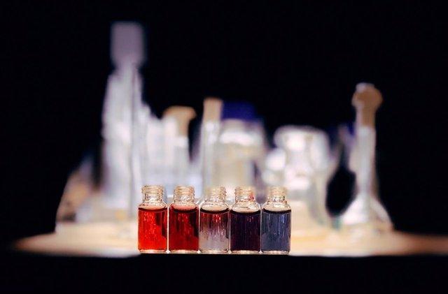 Nanopartículas de oro con diferentes tamaños.