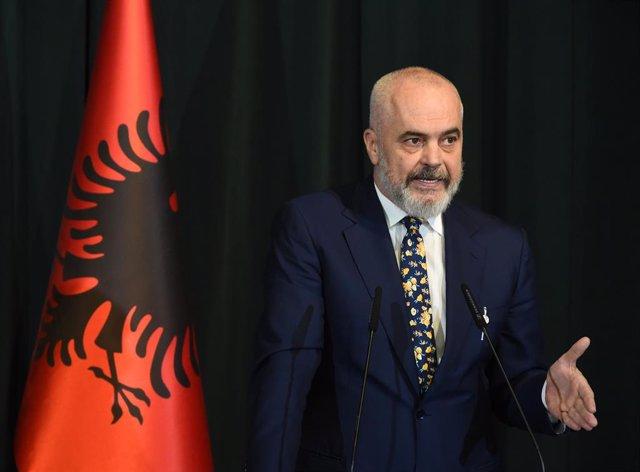 Archivo - El primer ministro de Albania, Edi Rama.