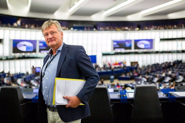 Archivo - FILED - 18 September 2019, France, Strasbourg: Jorg Meuthen, Leader of Alternative for Germany (AfD), and Member of the European Parliament, attends a session at the European Parliament. The Jewish life in Germany is an elementary component of t