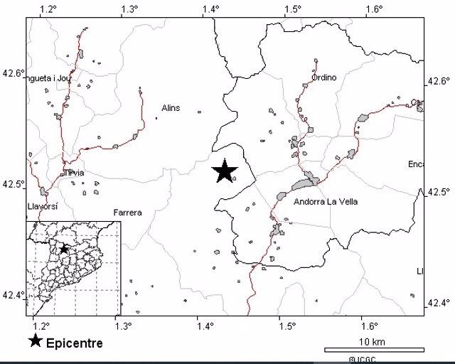 Sisme de magnitud 3,6 a l'Alt Urgell