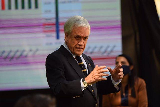 Archivo - Sebastián Piñera, presidente de Chile