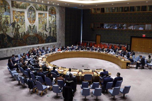Archivo - Reunión del Consejo de Seguridad de la ONU