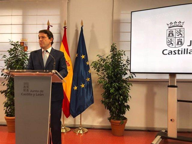 Imagen de archivo de Alfonso Fernández Mañueco, presidente de la Junta de Castilla y León.