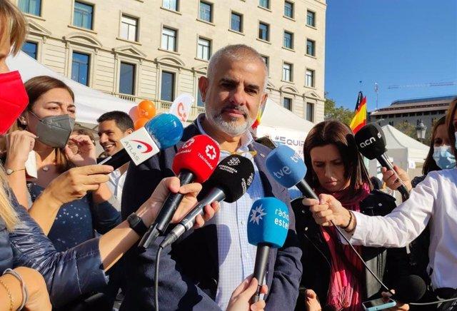 El president de Cs en el Parlament, Carlos Carrizosa, el Dia de la Hispanitat a Barcelona