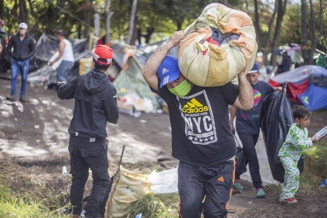 Archivo - Migrantes venezolanos en Colombia.
