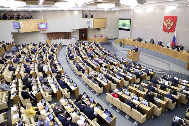 Archivo - Sesión en la Duma de Rusia