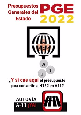 Cartel difundido por la Coordinadora Rural Zamora en el que comparan los Presupuestos Generales del Estado con una gran lotería