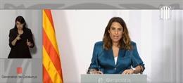 La portaveu del Govern, Patrícia Plaja, en roda de premsa després de la reunió del Consell Executiu