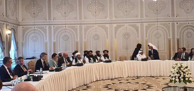 Reunión de los talibán con delegaciones de EEUU, la UE y otros países occidentales.